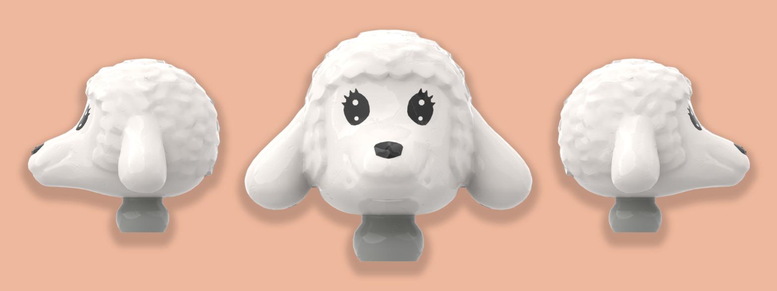 3 Fabuland lamb heads